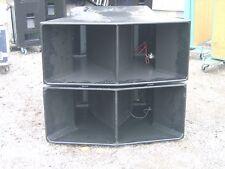 Martin Audio 115 Bass Bins pair  refurbished woodwork beautiful condition