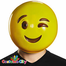 Winking Wink Emoji Emoticon Mask Fancy Dress Party Costume Accessory