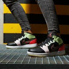 Nike Air Jordan 1 Mid 'Glow In The Dark'  GS shoes AV5174-076 Size 4/4.5/5/6.5Y