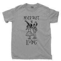 Never Trust The Living T Shirt Beetlejuice Lydia Deetz Tim Burton Movie DVD Tee
