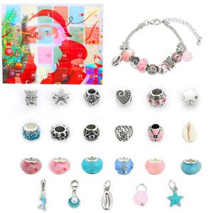 Advent Calendar Christmas Countdown Calendar DIY Charm Bracelet Making Kit Gift