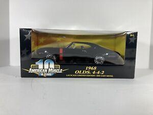 Black 1968 Olds 442 ERTL American Muscle 1:18 Scale Diecast Oldsmobile Car 36420