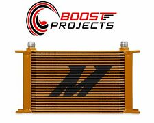 Mishimoto Universal 25-Row Oil Cooler - Gold MMOC-25G