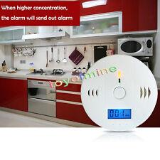 LCD monóxido de carbono Envenenamiento humo sensor gas blanca Detector de alarma