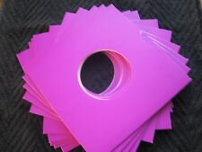 10 PURPLE CARD 7 INCH RECORD SLEEVES U.K. MADE. FREE POSTAGE !!!