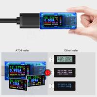 AT34 USB3.0 Color Display Tester Power Bank LCD Multimeter Voltage Current Meter