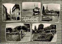 Radolfzell am Bodensee alte s/w Mehrbild-AK 1965 ua. mit Schiffe Ansichtskarte