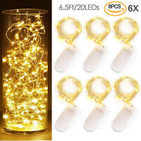 6X20 LED Kupferdraht Fairy String Licht Xmas Party Batteriebetriebene Wasserdich