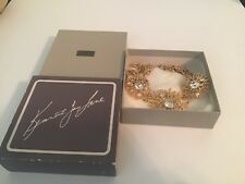 KJL Avon Regal Riches Collection Goldtone Coral & Rhinestone Necklace with Box