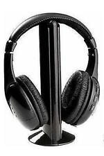 CUFFIE WIRELESS Wi-Fi MICROFONO MH2001 + SUPPORTO RADIO MP3 PC CONSOLE IPOD