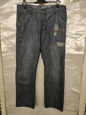 MENS ENZO MED BLUE FADED JEANS SIZE W36 L32 GOOD LOOKING  CLEAN SMART JEANS