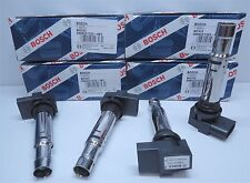 NEW GENUINE BOSCH IGNITION COILS VW GOLF POLO TIGUAN 0986221023 (4 PACK)