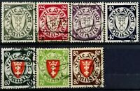 Danzig>1935>Used,perf.14.1/4x14>Coat of Arms.