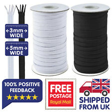 Flat White Elastic Black Elastic Cord 3mm 5mm Face Mask Elastic