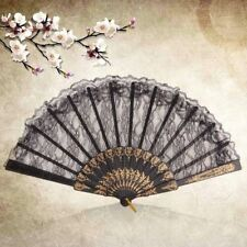 Bar Dancing Chinese Vintage Costume Party Fancy Dress Folding Lace Hand Fan