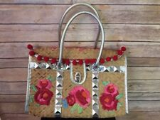 Betseyville by Betsey Johnson Straw Tote Bag RARE