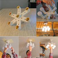 7-in-1 Light-Bulb Splitter E27 Base LED Converter Adapter Socket Splitter Holder