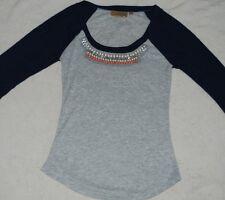Juniors/Womens NWOT Princess Vera Wang Shirt 3/4 Sleeve With Beads *Size Small