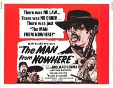 THE MAN FROM NOWHERE Movie POSTER 22x28 Half Sheet Giuliano Gemma Fernando