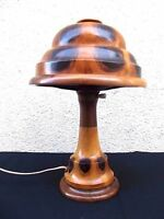 EXTRA RARE ART DECO WOOD ARTS & CRAFTS ANTIQUE TABLE DESK LAMP limited 23/37