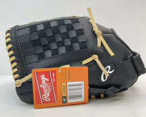 """Rawlings LEFT THROW Leather Palm Black Gold Glove SS13W RSB Softball Series 13"""""""