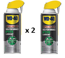 2 x WD40 Specialist PTFE Grease Lubricant 400ml Penetrant
