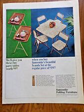 1965 Samsonite Folding Tables Chairs Furniture Ad  Scanda Set