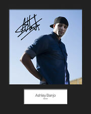 ASHLEY BANJO #1 10x8 SIGNED Mounted Photo Print - FREE DELIVERY