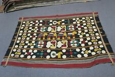 "Vintage Hand Embroidered Ethnic Elephant Tapestry on Woven Textile 48"" x 72"""