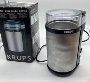 KRUPS GX4100 Electric Spice Herb and Coffee Grinder with Stainless Steel Blades