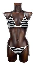 FERRE' costume mare donna bianco nero bikini woman black white swimwear SIZE II