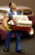 24002 American Diorama Muscle OFFICINA MECCANICO BIGBLOCK Bubba 1:24