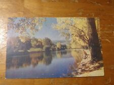 Vintage Postcard Truckee River In Autumn Near Reno, Nevada