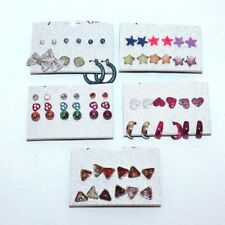 33 Pairs of Earrings Fashion Jewelry Sets Carded Multi-Color Post Style reg $50