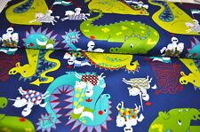 Alexander Henry Designer fabric 0,5 M KNIGHT DRAGON DRAGON FAIRY TALE BOYS