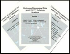 Dictionary of Occupational Titles with ONET Definitions (Dictionary of Occupatio