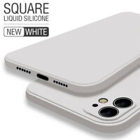 For iPhone 11 Pro Max XS XR X 8 7 6s Plus Square Liquid Silicone Soft Case Cover