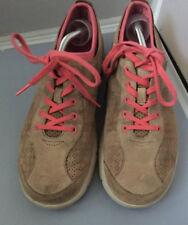 Dansko Elise Women's Leather Suede Beige Pink Athletic Sneaker Shoes Sz 9.5/40EU