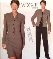 FF UC Vogue Sew Pattern 2047 Anne Klein Suit Jacket Pants Skirt American Design