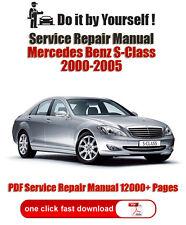 Mercedes Benz S-class W220 2000-2005 PDF 12000+ Pages Service Repair Manual