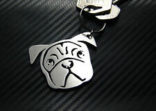 PUG DOG Dutch Bulldog Mastiff Keyring Keychain Key Bespoke Stainless Steel Gift