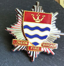 LONDON FIRE BRIGADE CAP BADGE.