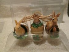 Hallmark Marjolein Bastin Natures Sketchbook Set of 3 Bunny Rabbit Ornaments