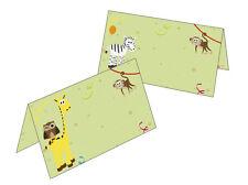 25 Tischkarten Tiere Namenskarten Geschenkanhänger Geburtstag Kinder Platzkarten