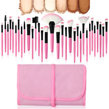 32Pcs/set Makeup Brushes Foundation Face Powder Blending Pencil Brush Pink Tools