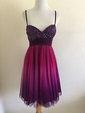 Scala 2 Two Purple Dress Dip Dye Ombre Sequin Top