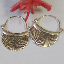 Hill tribe pure silver Earrings hand made Karen