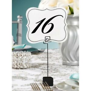 David Tutera Card or Table Number Holder, Cube Base, 7-Inch, Black, 5 Per Pack