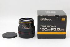 Zenza BRONICA ZENZANON-S 150 mm f3.5 SQ MOUNT INCL. 19% TVA!!! VAT + Warranty