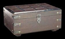 médiévale bois Coffre - avec ferrures en kassettenform - FANTASIE caisse